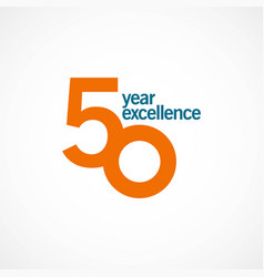 50 year anniversary excellence template design vector