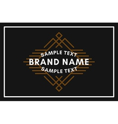 Art Decorative Geometric Old Fashioned Logo Label vector