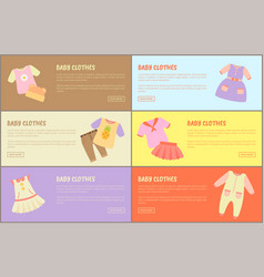 Baby clothes web collections vector