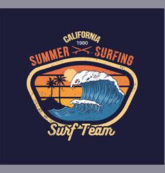 big ocean wave on california vector image