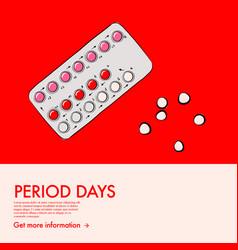 Birth control prevent pregnancy pills woman vector