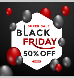 black friday sale banner layout graphic template vector image