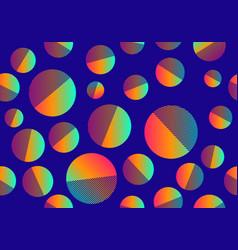 bright multicolored circles vector image