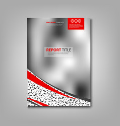 brochures book or flyer with abstract blurry vector image