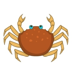 Brown crab icon cartoon style vector image