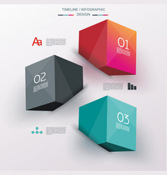 Business design template with bright 3d cubes vector