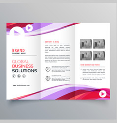 Business trifold brochure design with colorful vector