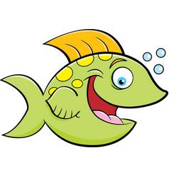 cartoon of a smiling fish vector image