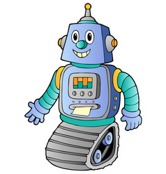 Cartoon retro robot 1 vector