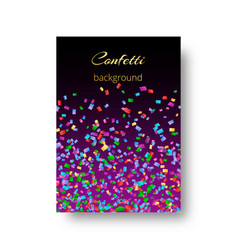 Catalog cover design with confetti vector