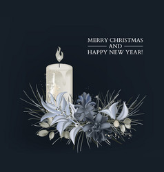 christmas invitation greeting 3d cards vector image