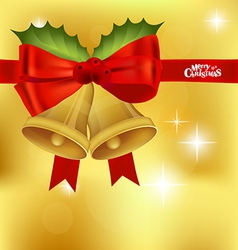 Christmas red ribbon background vector