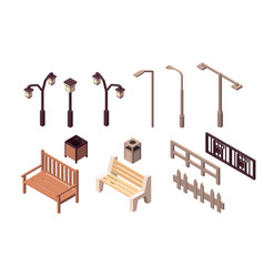 Collection isolated urban element of street vector