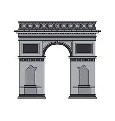 color image cartoon monument arch antique vector image