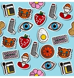 Colored Allergy icon pattern vector