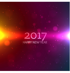 Colorful 2017 happy new year background greeting vector
