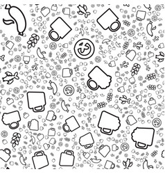 craft beer linear seamless pattern vector image