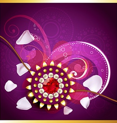 Creative indian rakhi vector