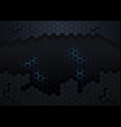 Dark hexagonal abstract background vector