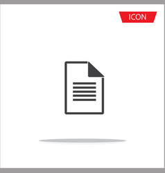 document file icon on white background vector image vector image
