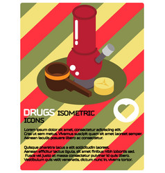 drugs color isometric poster vector image