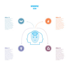 elements for template brain storm infographics vector image