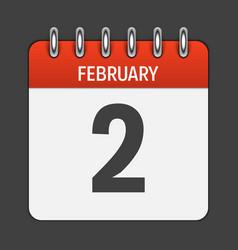 february calendar daily icon vector image