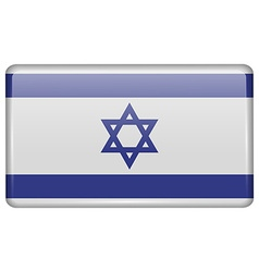 Flags Israel in the form of a magnet on vector