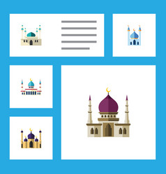 flat icon minaret set of islam architecture vector image vector image
