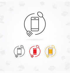 food mobile app icon vector image