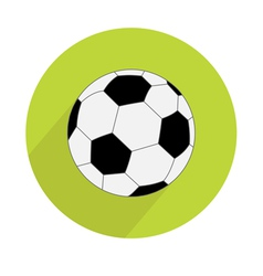 Football soccer ball round icon with long shadow vector image