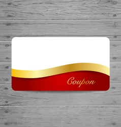 Gift Cards with gold ribbons vector