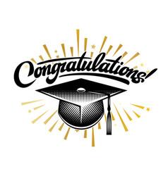 graduation class congrats grad congratulations vector image