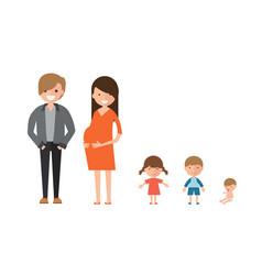 happy family set vector image