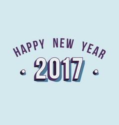 happy new year 2017 varsity style retro typography vector image