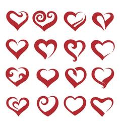 Heart collection vector