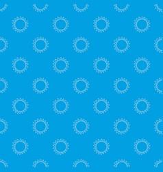 hot sun pattern seamless blue vector image