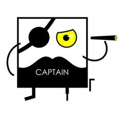 Icon face pirate captain vector