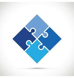 Jigsaw blue vector