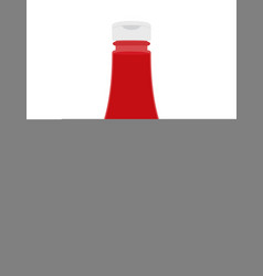 ketchup bottle sauce with chilli pepper vector image