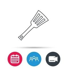 Kitchen utensil icon Kitchenware spatula sign vector