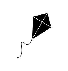 Kite black icon vector