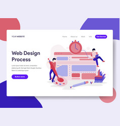 landing page template website design process vector image