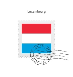 Luxembourg Flag Postage Stamp vector