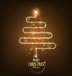 Merry Christmas card tree vector image