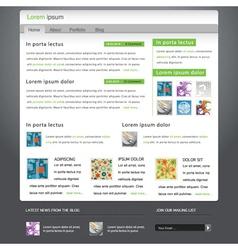 modern website template vector image