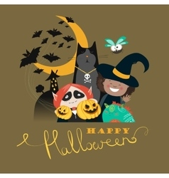 Monster friends kids guising trick or treat vector