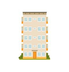 Multi storey panel house facade urban vector