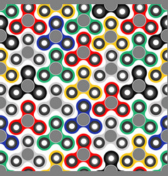 multicolored hand fidget spinner seamless vector image