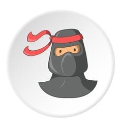 Ninja icon cartoon style vector